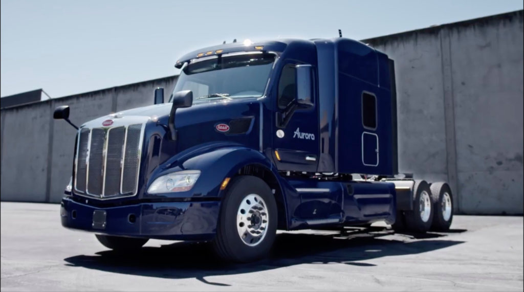 Aurora to test autonomous trucks in TX