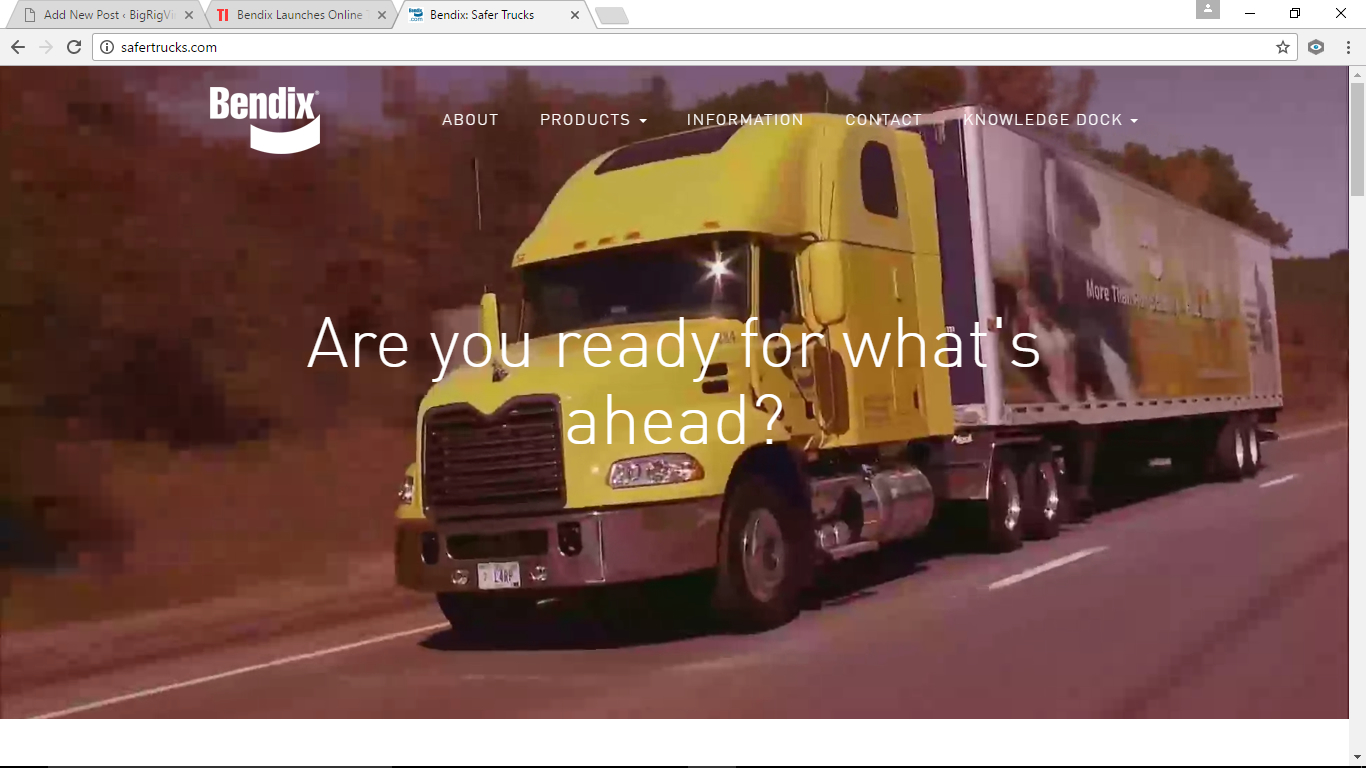 Bendix Launches New Online Trucking Industry Resource
