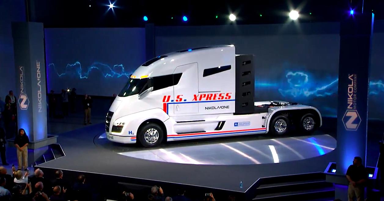 nikola one class 8 hydrogen electric hybrid comercial truck
