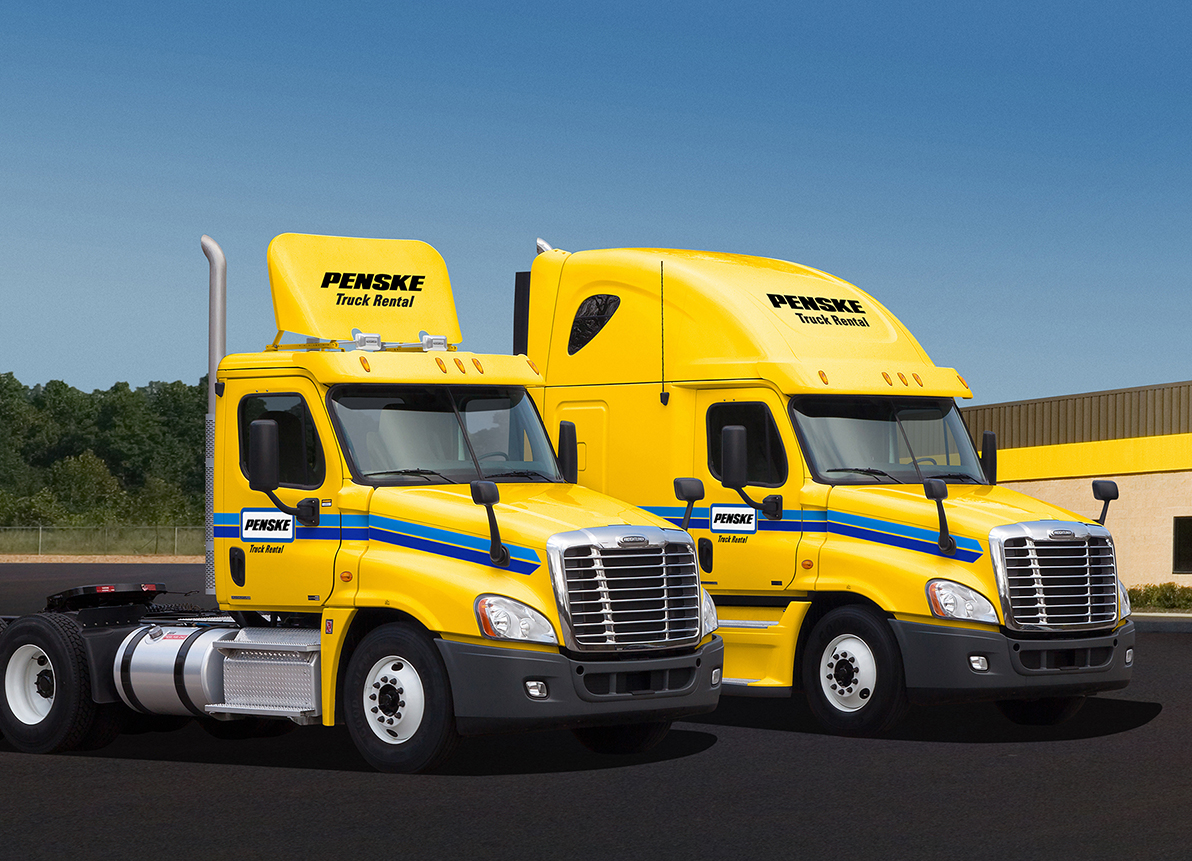 Penske Rental Trucks with Collision Avoidance